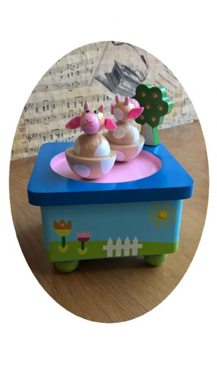 Dancing Cows Music Box 44036
